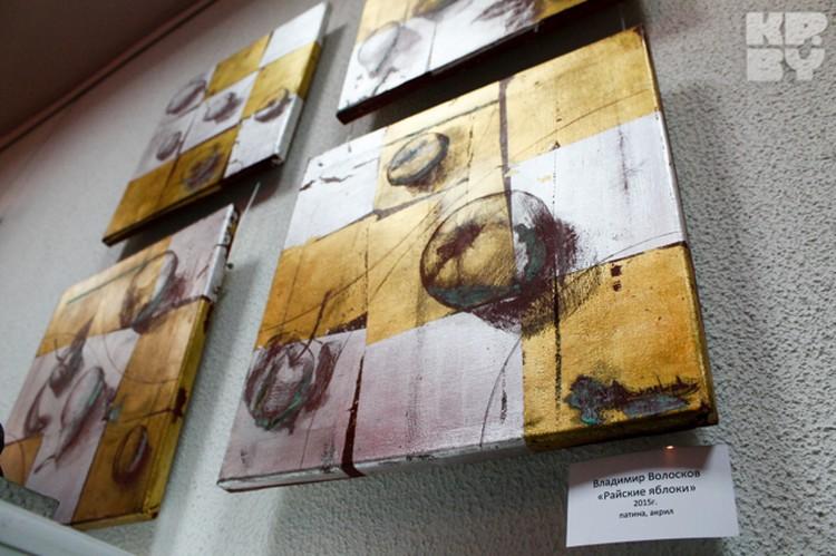 На выставке собраны картины разных стилей, техник и жанров.