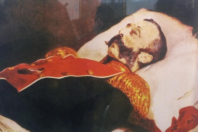 Похороны Александра II в соборе Петропавловской крепости