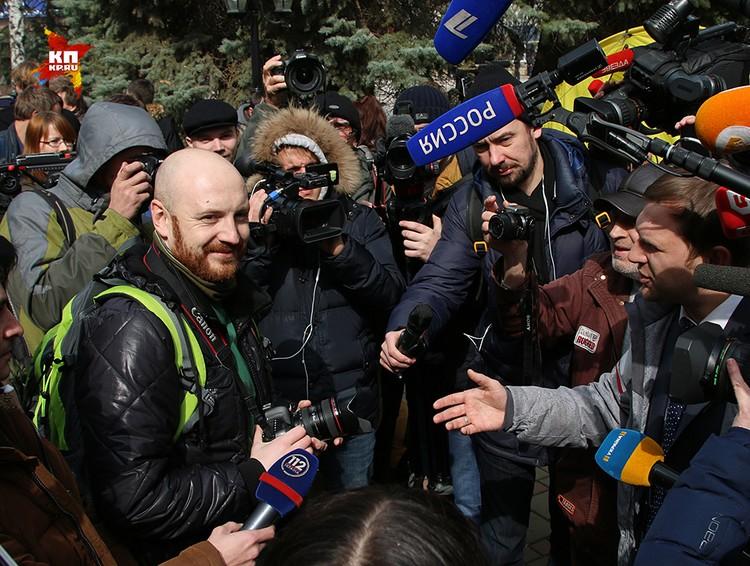 Рыжебородый журналист Громадского ТВ Богдан Кутепов, украинец и потомок белого офицера, по его собственному признанию