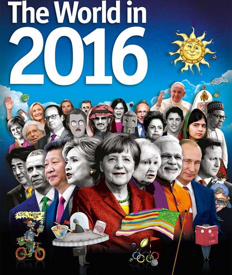 Еще в конце ноября влиятельный английский журнал «The Economist», считающийся рупором Ротшильдов, вышел с обложкой-головоломкой о судьбах мира-2016