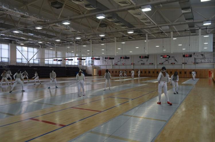 В этом зале проходят не только тренировки спортсменов, но и соревнования как регионального так и всероссийского масштаба