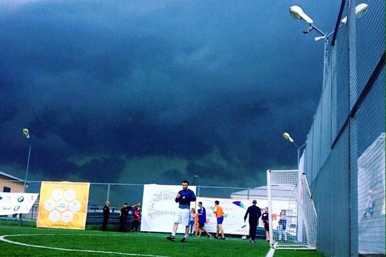 ... и во время урагана. Фото: соцсети