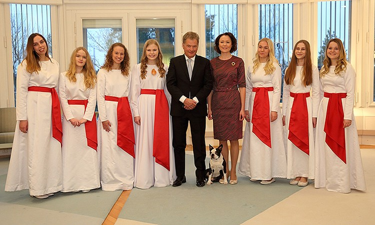 Бостон-терьер по кличке Ленну частенько присутствует на официальных мероприятиях своего хозяина, президента Финляндии Саули Нийнистё. Фото: Администрация президента.