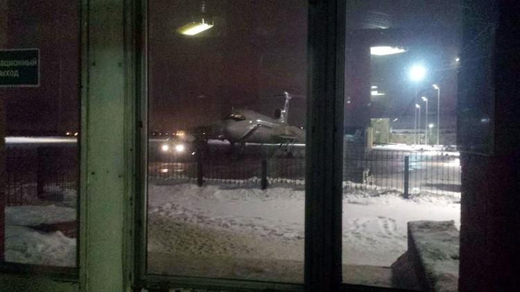 Ту-154 перед вылетом. Фото: звукооператор НТВ Евгений Толстов