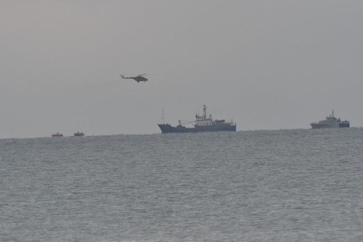 Поисково-спасательная операция в районе крушения Ту-154