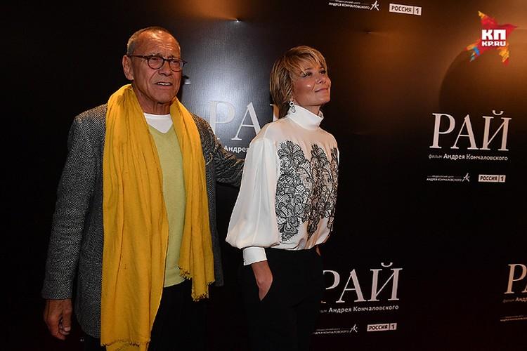 Режиссер картины Андрон Кончаловский и исполнительница главной роли Юлия Высоцкая были в центре внимания