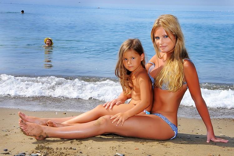 Дана Борисова с дочкой Полиной.