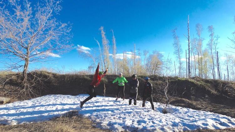 Перепады температур в пути у рязанских велосипедистов были до 30 градусов. Фото: Сергей СЕМАФОРОВ.