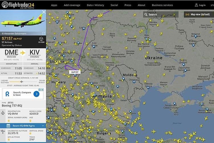 Самолет, на котором летит в Кишинев Рогозин, не пустили в Румынию