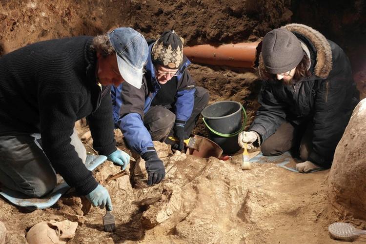 Литовские археологи работают после оползня на горе Гедимина. Фото: lnm.lt