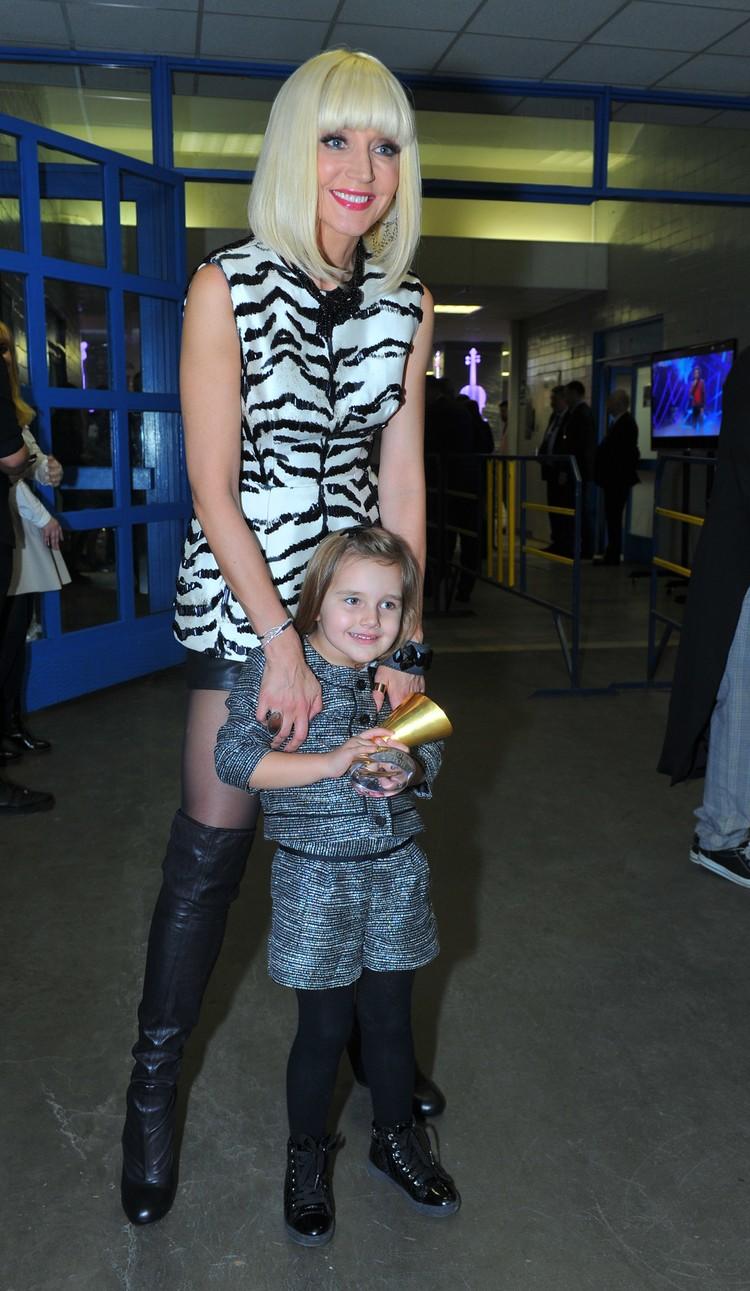 Кристина Орбакайте с дочерью Клавдией Земцовой (5 лет)