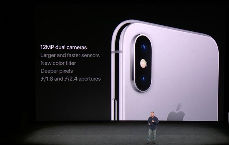 В новом айфоне установлена двойная 12-мегапиксельная камера с двойной стабилизацией
