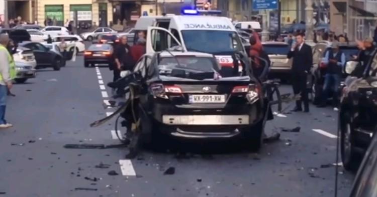 Последствия взрыва в Киеве 8 сентября 2017 года.
