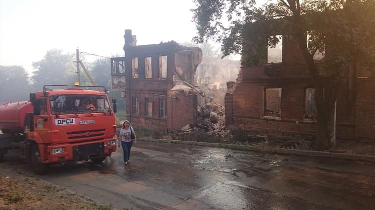 В крупном пожаре 21 августа выгорело несколько жилых кварталов города - 116 строений