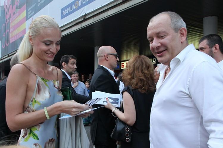 Актер с женой Ксенией