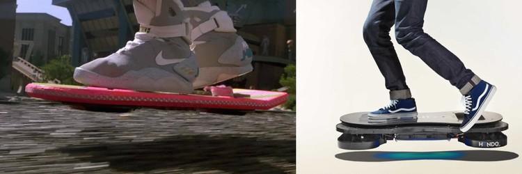 Так выглядел ховерборд Марти Макфлая из «Назад в будущее 2». А так – ховерборд Hendo