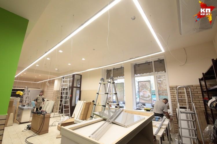 В магазине будет новое современное освещение
