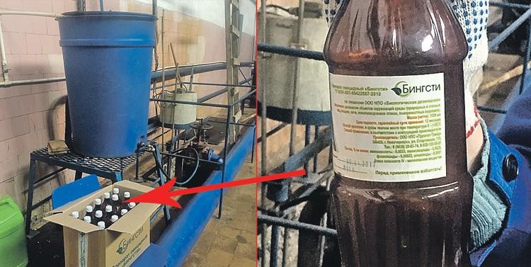 Вот так в Ростове-на-Дону паковали «волшебный эликсир» «Бингсти», свойства которого по-разному удивили чиновников и экспертов.