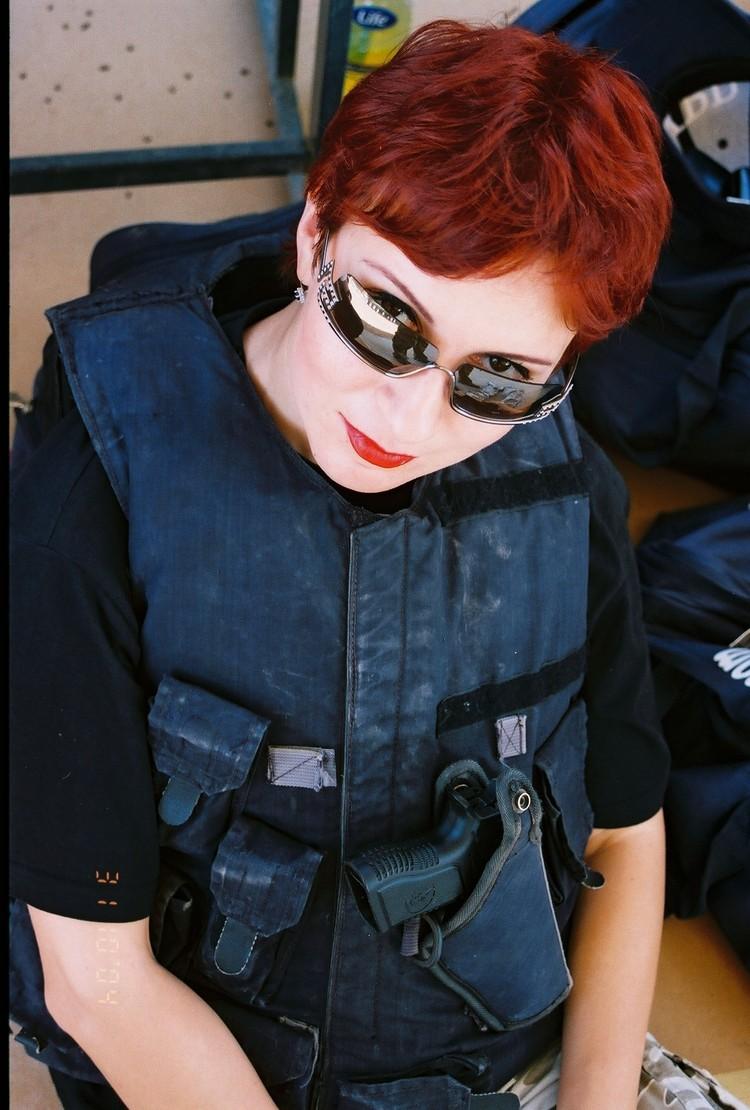 Дарья Асламова в Международной Академии безопасности в Израиле 15 лет назад.