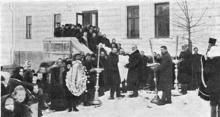 "Бологое было повергнуто в глубокий траур. Фото газета ""Нива"", 1911 год, Бологое. Фото: ТИА"
