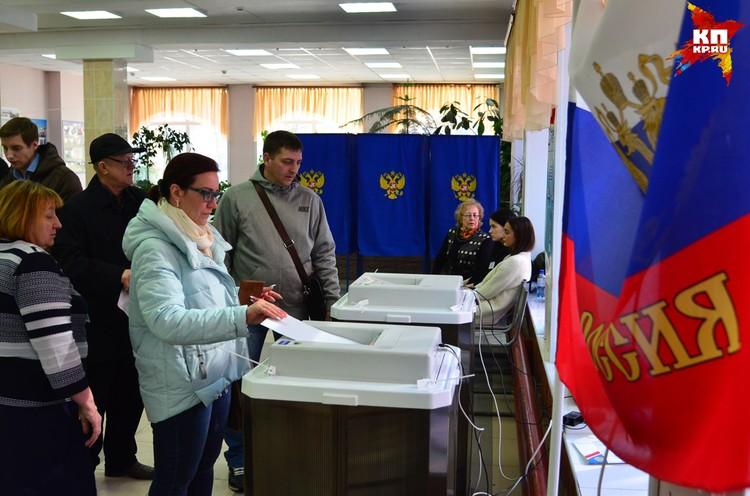 18 марта жители Новосибирска проголосовали за президента