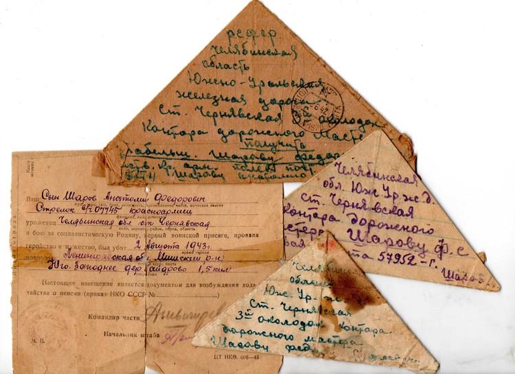 Письма Анатолия Шарова - семейное достояние. Фото: семейный архив