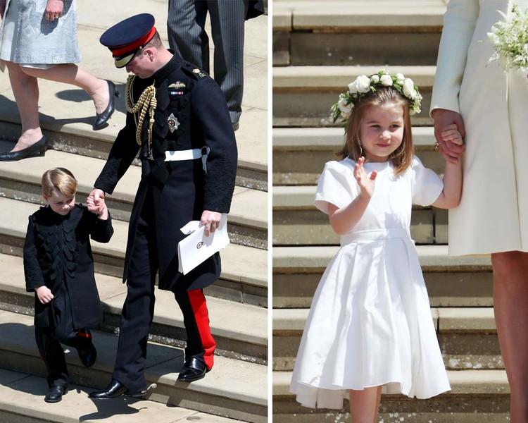 Принц Джордж и принцесса Шарлотта важно вышагивали рядом с родителями