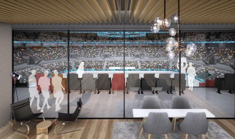 На втором уровне арены будет работать ресторан с панорамным окном. Фото: УГМК