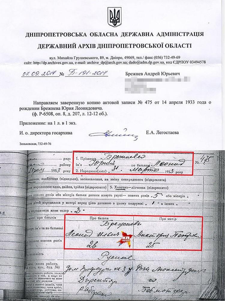 Ответ из архива Днепропетровской области. Фото предоставлено Алексеем КРЕСТЬЯНОВЫМ