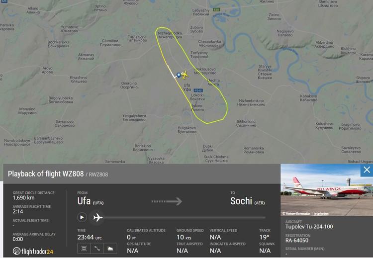 Полет Ту-204