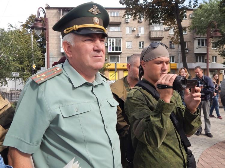В мероприятии поучаствовал член правления ОО «Оплот Донбасса», полковник Александр Куренков