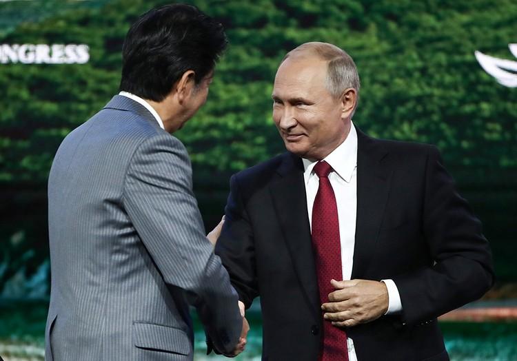 Президент предложил подписать мирный договор с Японией
