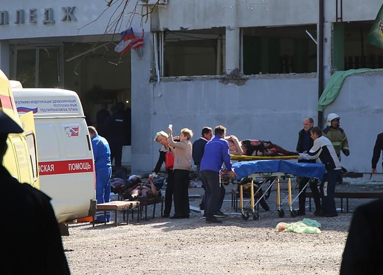В списке пострадавших в результате стрельбы и взрывов в Керченском политехническом колледже значатся 53 человека
