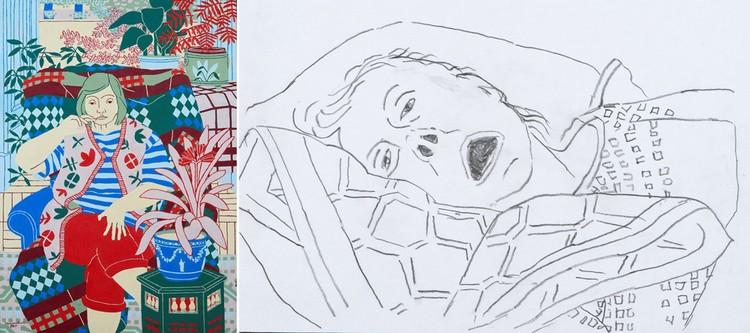Такой (слева) изображал свою жену до болезни художник Норман Гиберт, а такой - когда она была на смертном одре. Многим эти рисунки показались шокирующими, но Кирилл Прощаев считает: они позволяют обсудить, что такое последние минуты жизни. Фото: bbc.com