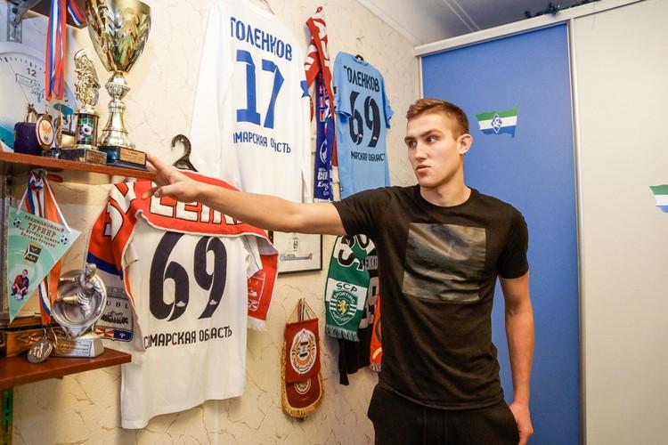 Награды Егора - занимают почетное место у него дома