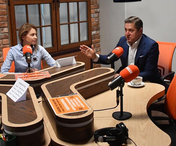Наталья Поклонская и ее муж Иван Соловьев в эфире на Радио «КП»