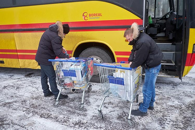 Поездка в Россию за продуктами обходится в 10 Евро - это проезд.