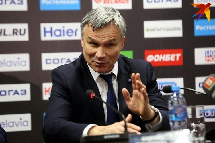 Андрей Сидоренко на пресс-конференции