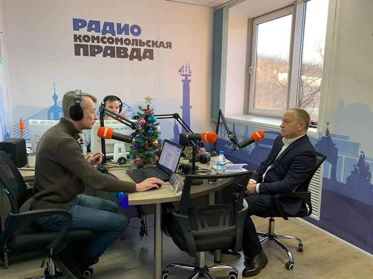 """Первое интервью и.о. мэра Владивостока - на радио """"Комсомольская правда"""""""