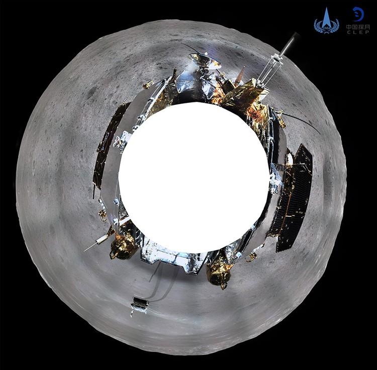 Управление опубликовало снимок в 360 градусов. Фото: China National Space Administration