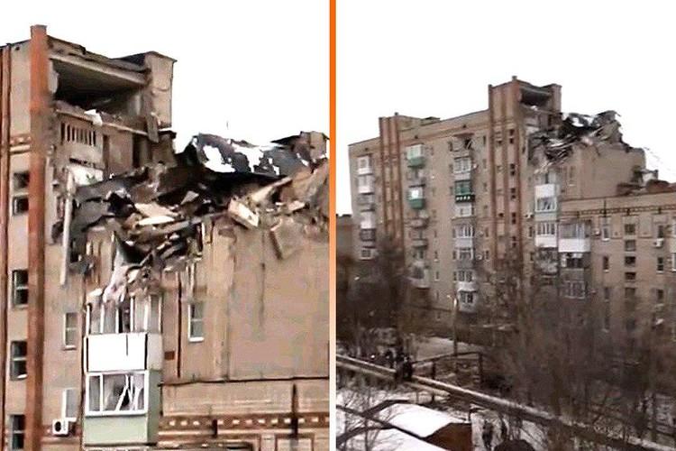 Взрыв разрушил восьмой и девятый этажи, поврежден седьмой
