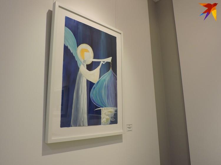 На большинстве работ изображены ангелы