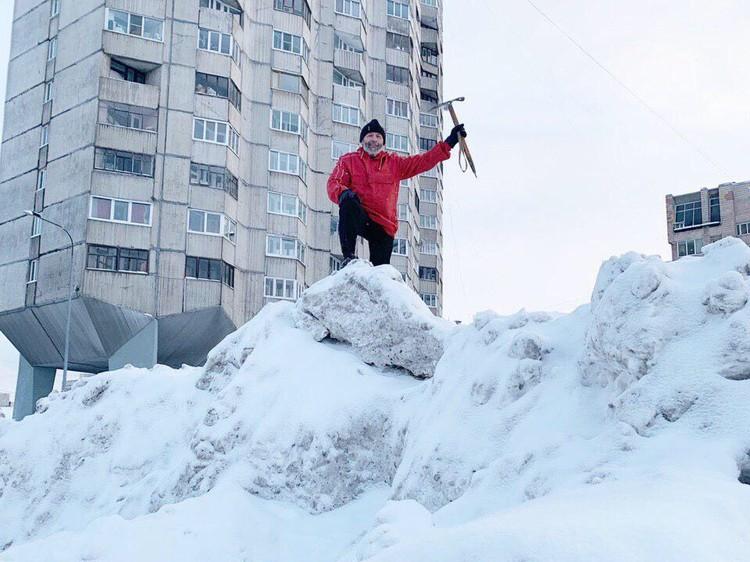 Снежная зима в Северной столице.