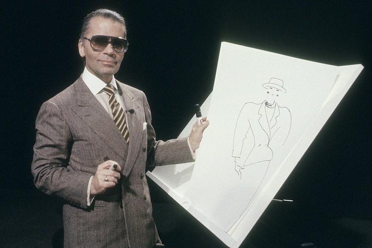 Лагерфельд в 1984 году.