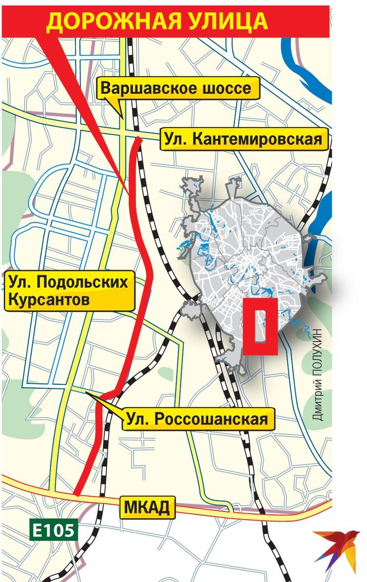 Участок от Кантемировской до МКАД реконструируют