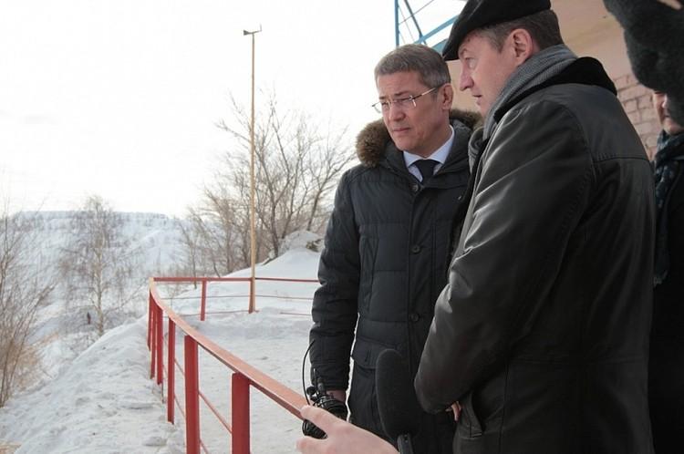 Хабиров и Козицын осмотрели тлеющий рудник