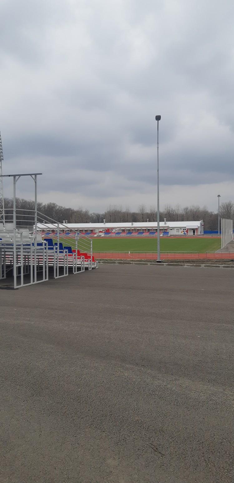 ... теперь же это крохотный стадион на 2 тысячи