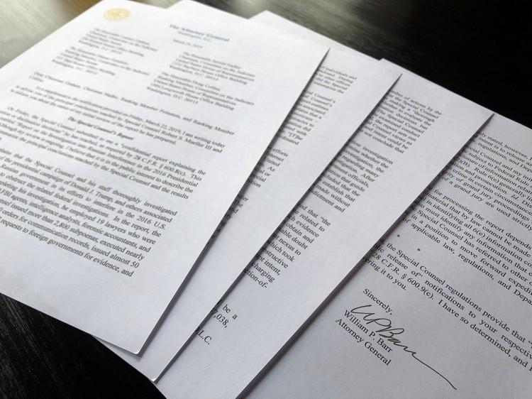 Министр юстиции США Уильям Барр обнародовал четырехстраничную версию доклада Мюллера
