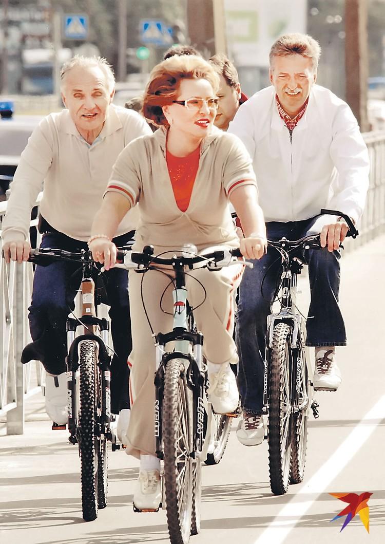 На новой велодорожке, Санкт-Петербург, 2008 год. Фото: из личного архива В. Матвиенко