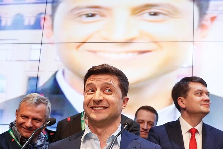 Победитель второго тура президентских выборов, будущий президент Украины Владимир Зеленский.